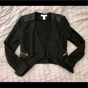 H&M Dark Green Open Jacket